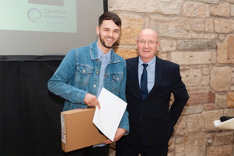 Scott receiving his GES award