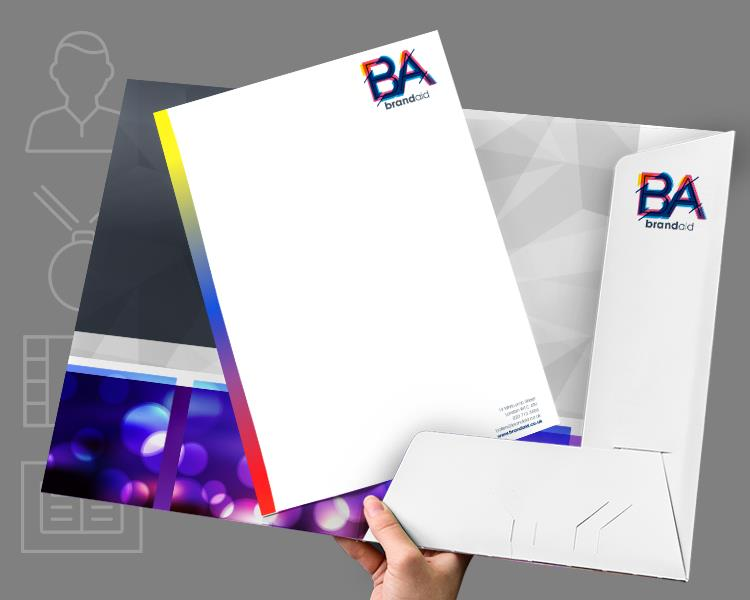 Letterhead and folder