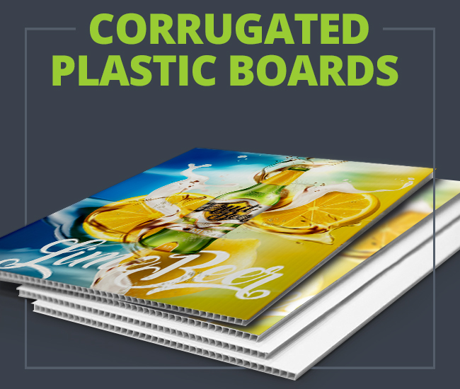 Printed Corrugated Plastic Boards