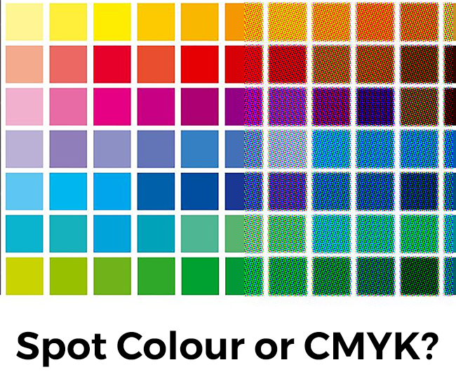 Spot Colour and CMYK comparison