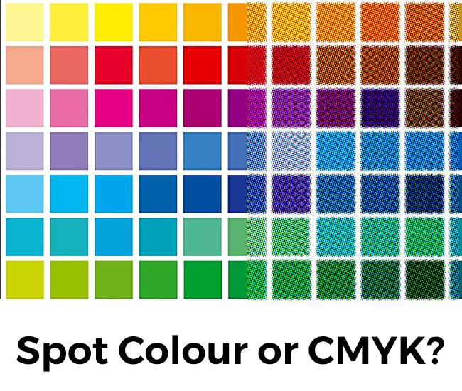 Spot Colour and CMYK comparison