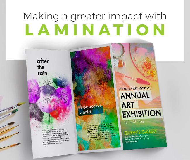 Laminated trifold leaflet