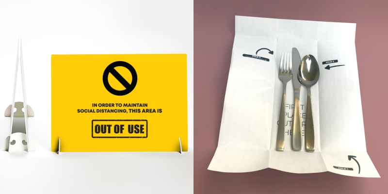 Cutlery Pouches and Strut Cards